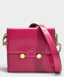 Medium Caddy pink leather crossbody