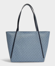 Whitney blue canvas large tote