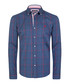 Navy & red pure cotton checked shirt Sale - felix hardy Sale