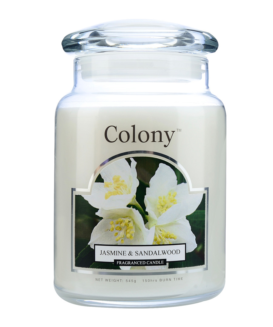 Jasmine & Sandalwood large jar candle Sale - wax lyrical