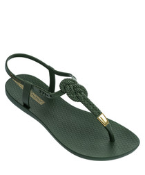 Glam Nautical khaki sandals