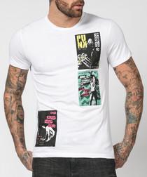 White pure cotton clash T-shirt