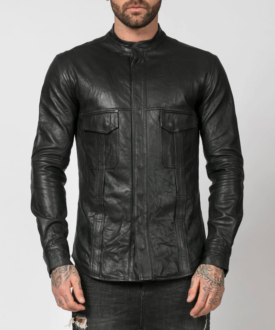 Decade black leather jacket Sale - religion