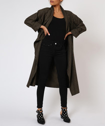 Eternity jet black & camel coat