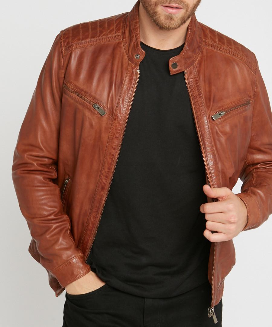 Joe cognac leather jacket Sale - giorgio & mario