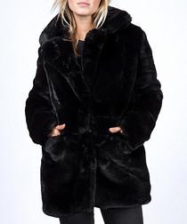 Black texutred winter coat