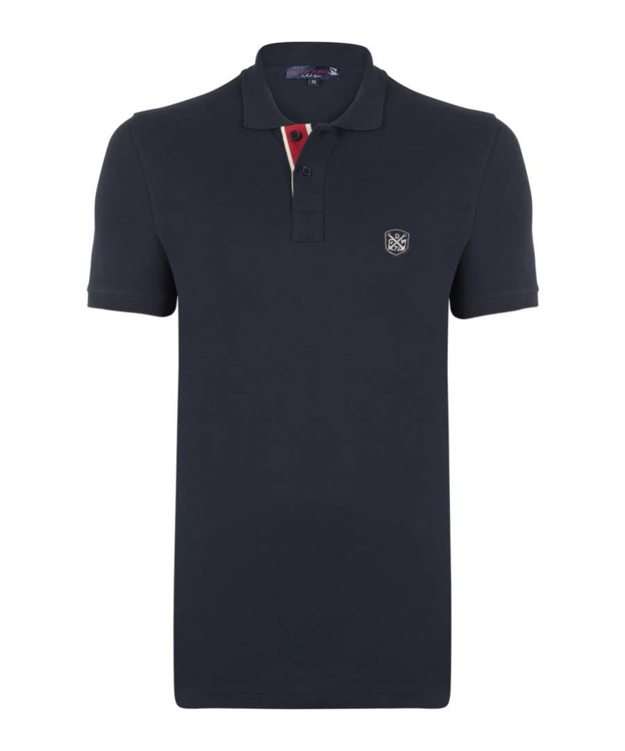 Navy logo polo shirt Sale - giorgio di mare