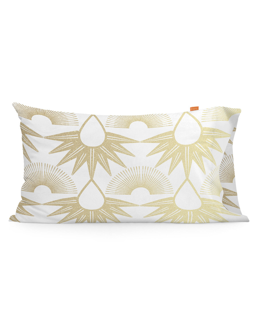 2pc Golden Tears cotton pillow covers Sale - blanc