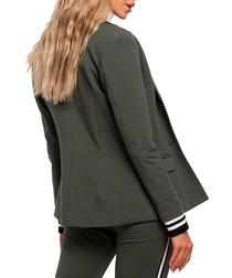 Mitilary green cotton blend jacket