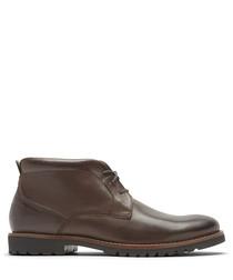 Marshall brown leather chukka boots