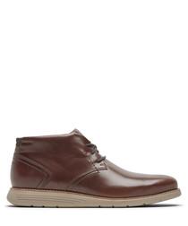 Mahogany leather chukka boots