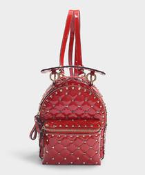 Rockstud Spike red mini backpack