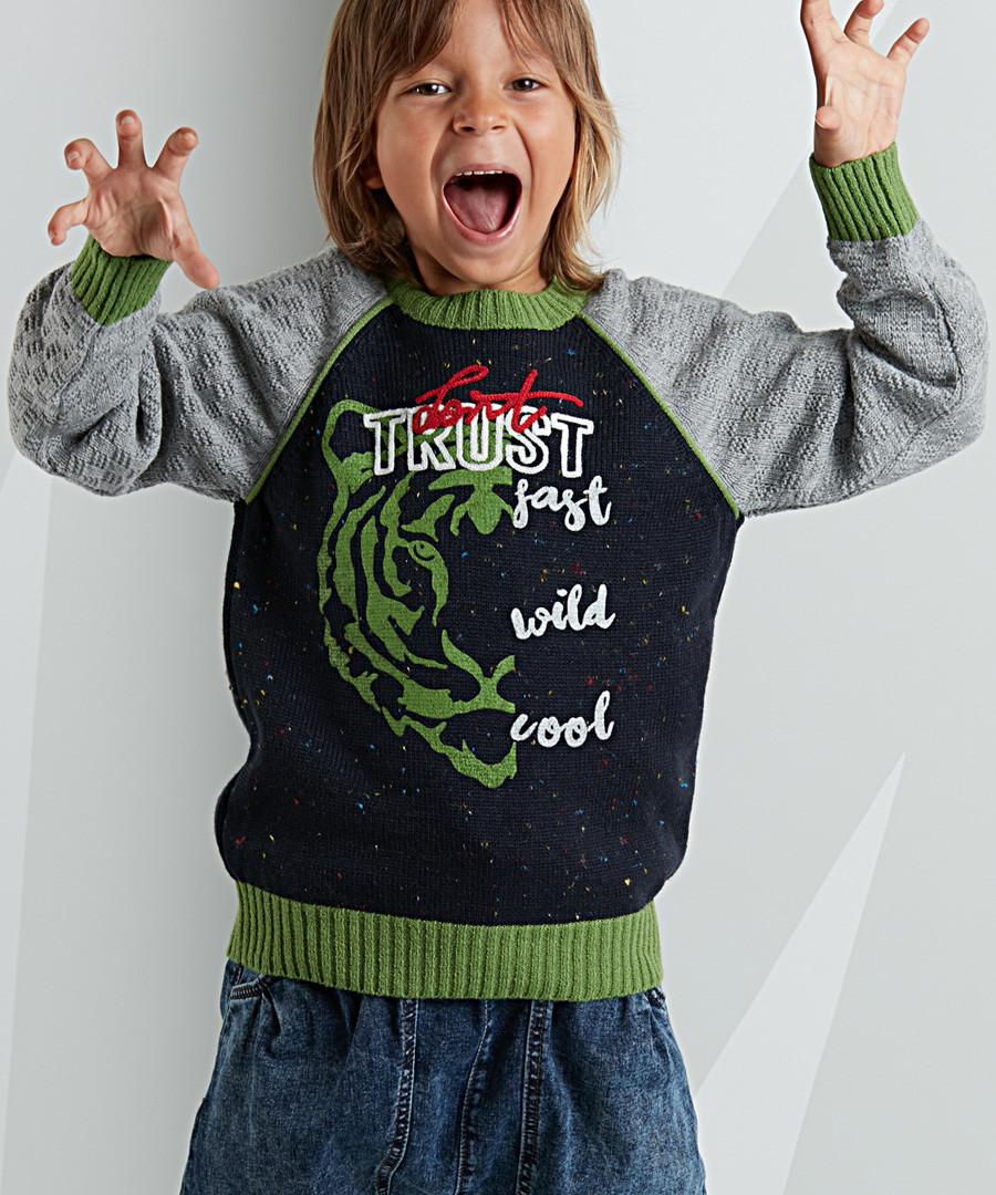 Trust green tiger print jumper Sale - Mushi