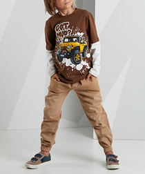 2pc Got Mud brown outfit set