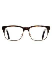 Dark tortoiseshell optical frames