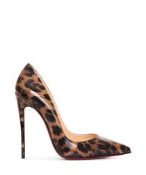 So Kate multi-coloured leopard heels