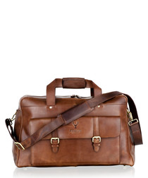 Brown leather large holdall