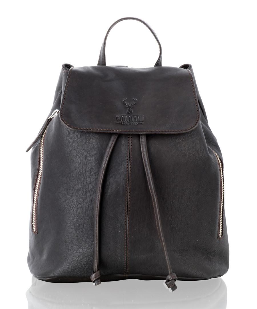 Brown leather medium backpack Sale - woodland leathers
