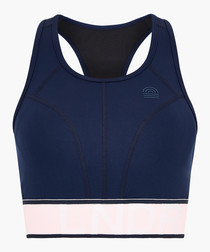 Navy Marvel Sports Bra