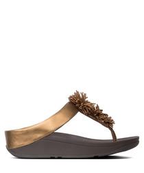 Fino bronze-tone sandals