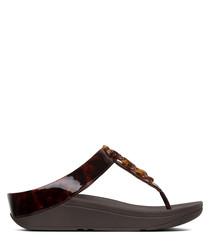 Fino dark brown tortoiseshell sandals