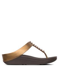 Fino Treasure bronze-tone sandals