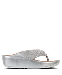 Twiss silver-tone sandals