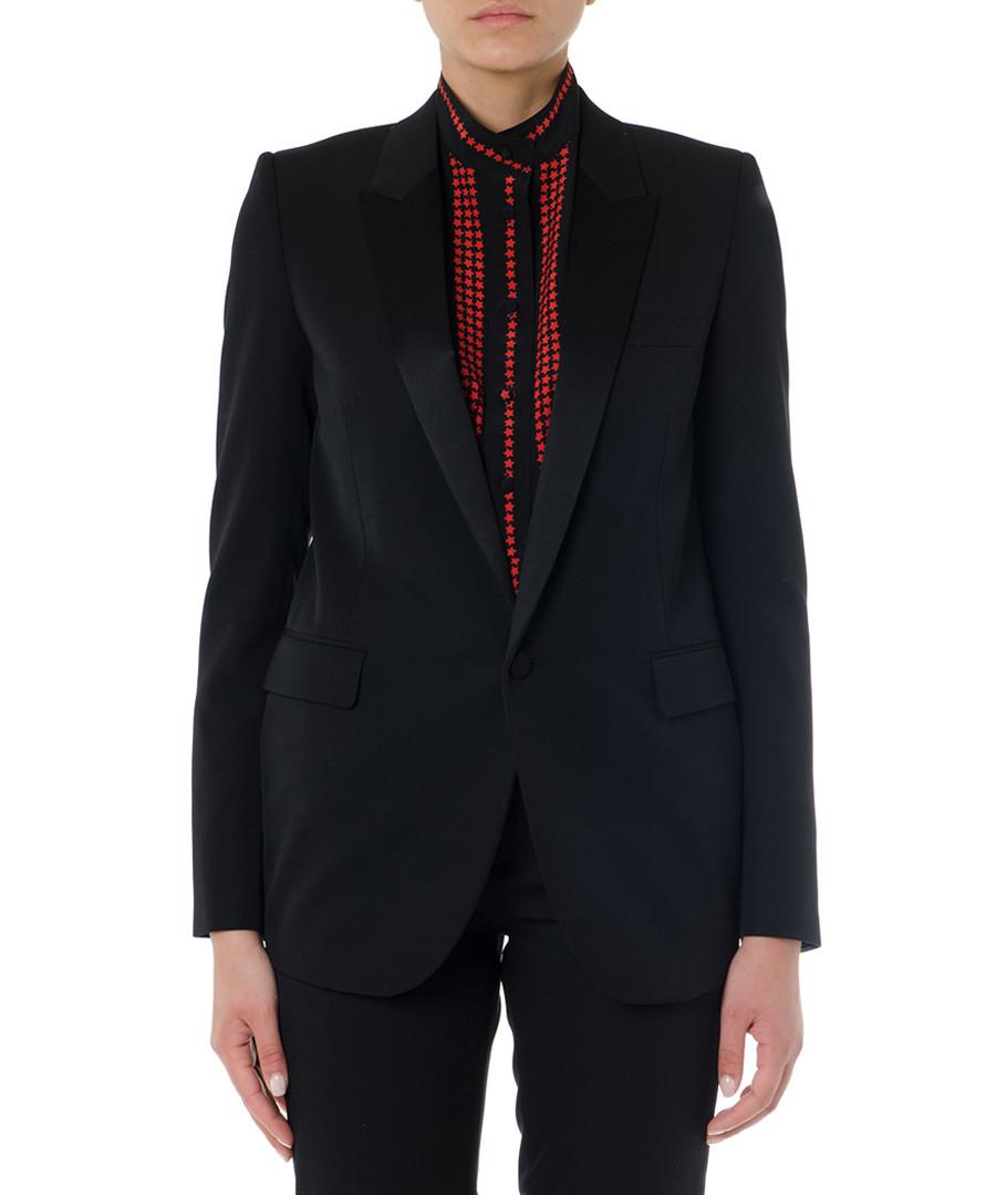 Black wool one-button blazer Sale - saint laurent
