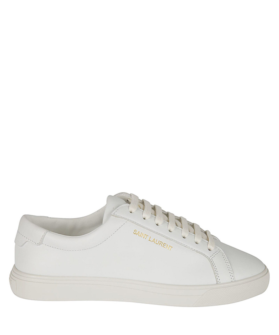 Andy optic white leather logo sneakers Sale - saint laurent