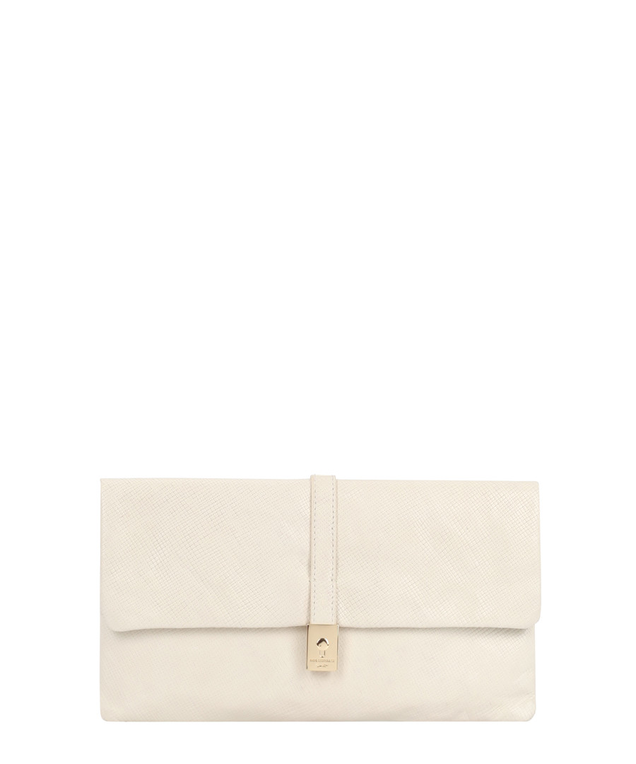 piave off white leather clutch Sale - paul costelloe