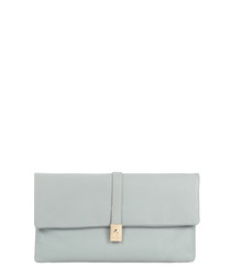 Piave blue leather clutch