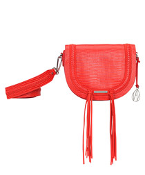 The Murphy papaya leather crossbody