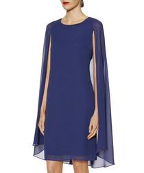 Nora blue cape dress