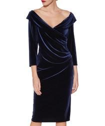 Bridget navy velvet dress