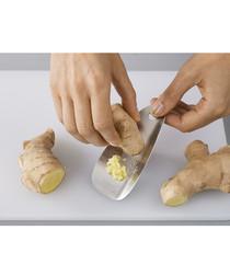 Shred-line garlic & ginger grater