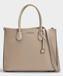 Mercer Large Convertible Tote in Beige Calfskin