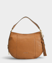 Brooke Large Hobo Bag in Acorn Small Pebble Leather