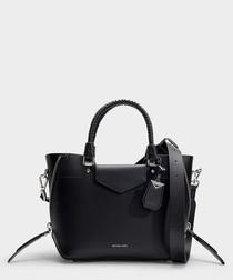 Blakely Medium Messenger Bag in Black Calfskin