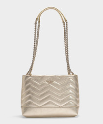 Reese Park Small Lorie gold shoulder bag