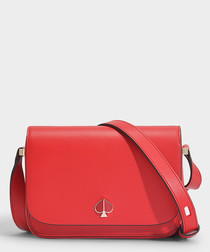 Nicola Small red leather shoulder bag