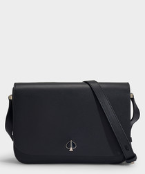 Nicola Medium black leather shoulder bag