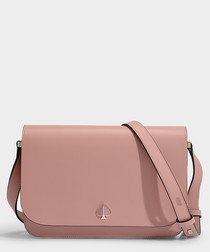 Nicola Medium pink leather shoulder bag