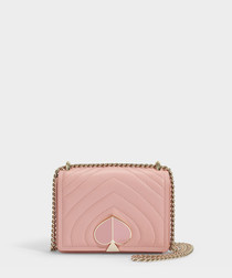 Amelia Small pink leather shoulder bag