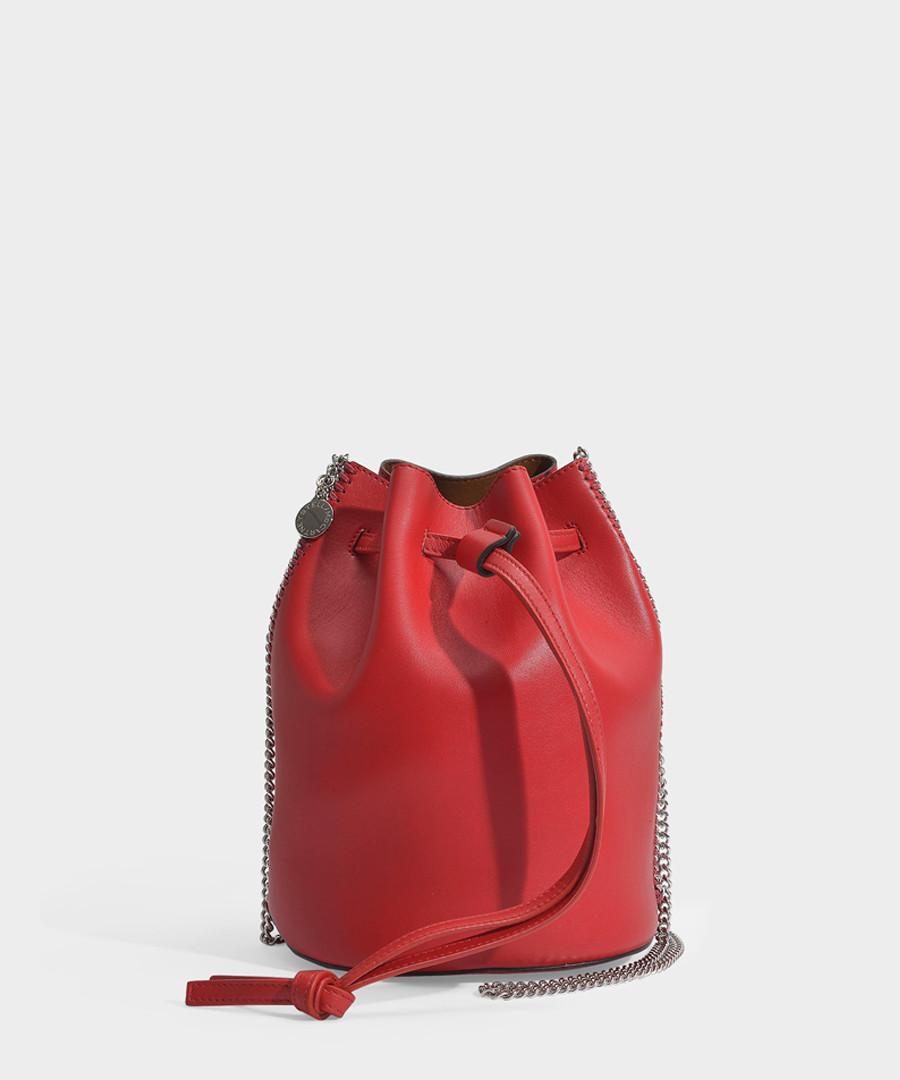 Red eco leather thin chain bucket bag Sale - stella mccartney