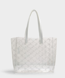 Clear pattern small tote