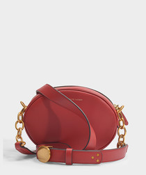 Gilly scarlet leather crossbody