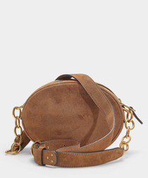 Gilly brown suede crossbody