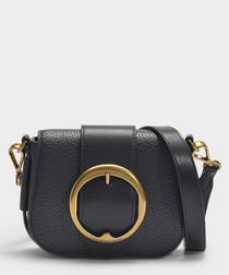 Lennox Small black leather crossbody