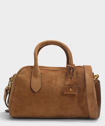 Sullivan brown suede bag