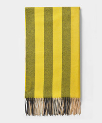 Gorse yellow pure cashmere scarf
